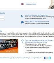 Oficiální web internetbankingu GEMoney