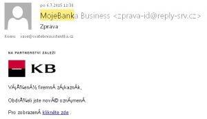Podvodný email Mojebanka Business