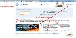 Podvodný web GE Money